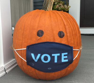 Vote - Mask - Pumpkin 2020