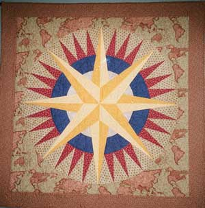 Mariner's Compass by Ann Lovell, South Shore Stitchers Guild member