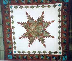 Red Star of the Evening Quilt by R. McCaughey